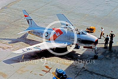FJ-4USMC 00003 North American FJ-4 Fury VMF-232 by William T Larkins