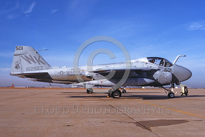 A-6USMC-VMA(AW)-224 00007 A static Grumman A-6 Intruder USMC attack jet 152923 VMA(AW)-224 BENGALS 1-1989 military airplane picture by Michael Grove, Sr