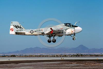 A-6USMC-VMA(AW)-224 00002 A landing Grumman A-6E Intruder USMC attack jet 157013 VMA(AW)-224 BENGALS WK code MCAS Yuma 7-1982 military airplane picture by Peter J Mancus