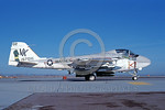 A-6USMC-VMA(AW)-121 00001 A taxing Grumman A-6 Intruder USMC attack jet 157016 VMA(AW)-121 GREEN KNIGHTS VK code with bombs NAS Fallon 11-1983 military airplane picture by Michael Grove, Sr