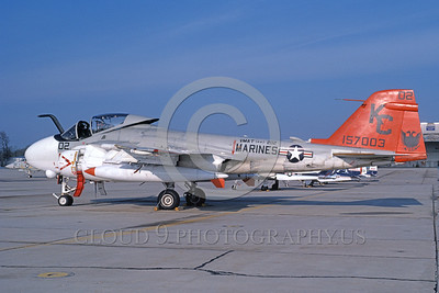 A-6USMC-VMAT(AW)-202 00007 A static Grumman A-6 Intruder USMC attack jet 157003 VMAT(AW)-202 DOUBLE EAGLES KC code 4-1982 military airplane picture by Paul Palmer