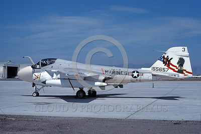 A-6USMC-VMA(AW)-121 00021 A static Grumman A-6 Intruder USMC attack jet 155657 VMA(AW)-121 GREEN KNIGHTS VK code bicentennial color scheme NAS Moffett 4-1977 military airplane picture by Michael Grove, Sr