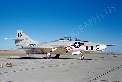 F-9F8PUSMC 00001 Grumman F9F-8P Cougar USMC 144383 VMCJ-3 by William T Larkins
