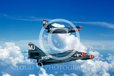 F-9FUSMC 00002 Grumman F-9F Panther VMJ-3 by Clay Jansson S