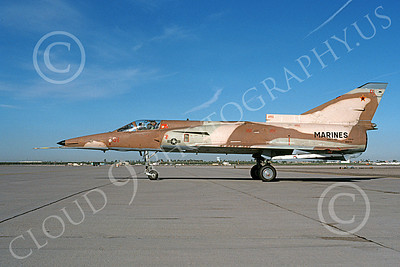 F-21-USMC 00009 A taxing Israeli Aircraft F-21 Kfir jet fighter USMC 999731 VMFT-401 SNIPERS MCAS Yuma 3-1988 military airplane picture by Michael Grove, Sr