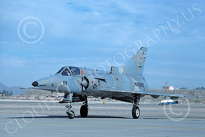 F-21-USMC 00011 A taxing Israeli Aircraft F-21 Kfir jet fighter USMC VMFT-401 SNIPERS MCAS Yuma 3-1988 military airplane picture by Mick Roth