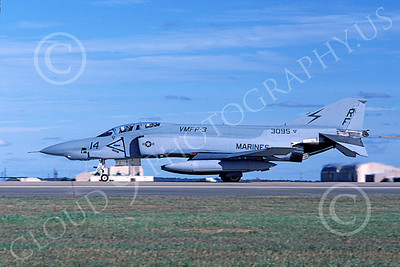 F-4USMC 00239 A rolling out McDonnell Douglas RF-4B Phantom II USMC 153095 VMFP-3 EYES OF THE CORPS RF 11-1986 military airplane picture by Michael Grove, Sr