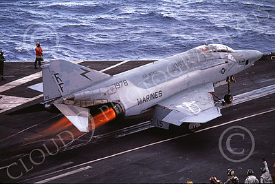 F-4USMC 00187 A McDonnell Douglas RF-4B Phantom II USMC 151978 VMFP-3 EYES OF THE CORPS RF 8-1987 USS Midway AFTERBURNER military airplane picture by Keith Twitchell