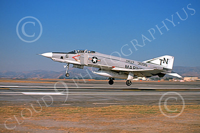 F-4USMC 00105 McDonnell Douglas RF-4B Phantom II USMC 153095 VMCJ-3 EYES OF THE CORPS TN MCAS El Toro Oct 1974 military airplane picture by Robert Hale