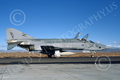 F-4USMC 00223 A taxing McDonnell Douglas RF-4B Phantom II USMC 153096 VMFP-3 EYES OF THE CORPS RF NAS Fallon 11-1986 military airplane picture by Michael Grove, Sr