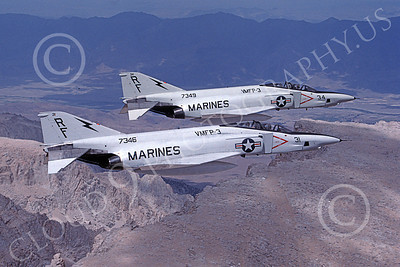 F-4USMC 00094 McDonnell Douglas RF-4B Phantom II USMC 157346 VMFP-3 EYES OF THE CORPS RF 10 July 1990 military airplane picture by Robert L Lawson