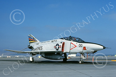 F-4USMC 00135 McDonnell Douglas RF-4B Phantom II USMC 7342 VMFP-3 EYES OF THE CORPS commanding officer's RF MCAS El Toro 7-1990 military airplane picture by Michael Grove, Sr