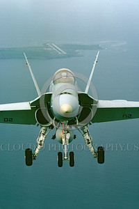 F-18USMC-Generic 0016 A flying McDonnell Douglas F-18A Hornet USMC jet fighter military airplane picture by Peter J Mancus