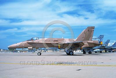 F-18USMC-VMFA-134 0017 A static McDonnell Douglas F-18 Hornet USMC 162451 VMFA-134 SMOKE MCAS El Toro 4-1996 military airplane picture by Michael Grove, Sr