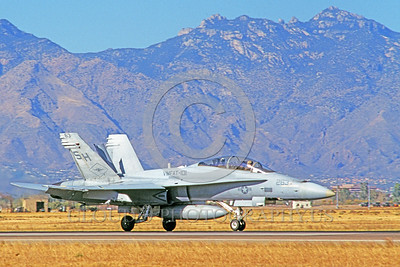 F-18USMC-VMFAT-101 0019 A taxing McDonnell Douglas F-18D Hornet USMC VMFAT-101 SHARPSHOOTERS 5-1999 military airplane picture by Michael Grove, Sr