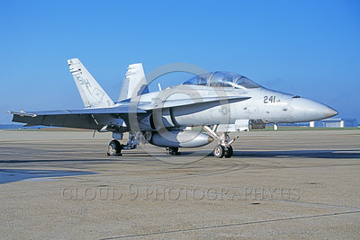 F-18USMC-VMFAT-101 0015 A static McDonnell Douglas F-18D Hornet USMC 163447 VMFAT-101 SHARPSHOOTERS NAF Washington 10-2004 military airplane picture by Phil Barnabas