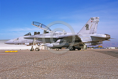 F-18USMC-VMFA(AW)-121 0017 A static McDonnell Douglas F-18D Hornet USMC 165529 VMFA(AW)-121 GREEN KNIGHTS NAS Moffett 11-2003 military airplane picture by Michael Grove, Sr