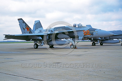 F-18USMC-VMFAT-101 0001 A static McDonnell Douglas F-18C Hornet USMC jet fighter 163152 VMFAT-101 SHARPSHOOTERS NAF Washington 11-2004 military airplane picture by Richard Briones