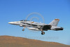 F-18USMC-VMFA-323 0004 A flying McDonnell Douglas F-18A Hornet USMC jet fighter VMFA-323 DEATH RATTLERS commanding officer's airplane Klamath military airplane picture by Peter J Mancus