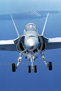 F-18USMC-Generic 0002 A flying McDonnell Douglas F-18A Hornet USMC jet fighter military airplane picture by Peter J Mancus