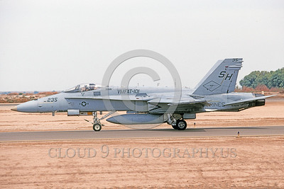 F-18USMC-VMFAT-101 0029 A taxing McDonnell Douglas F-18C Hornet USMC 163509 VMFAT-101 SHARPSHOOTERS NAS El Centro 4-2002 military airplane picture by Michael Grove, Sr