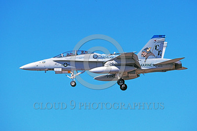 F-18USMC-VMFA(AW)-225 0008 A landing McDonnell Douglas F-18D Hornet USMC 165410 VMFA(AW)-225 VIKINGS 8-1998 military airplane picture by Michael Grove, Sr