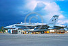 F-18USMC-VMFA-323 0001 A static McDonnell Douglas F-18A Hornet USMC VMFA-323 DEATH RATTLERS USS Coral Sea AK code MCAS El Toro military airplae picture by Michael Grove, Sr
