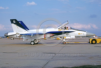 F-18USMC-Test 0003 A towed McDonnell Douglas F-18A Hornet USMC 160779 NAS Lemoore test aircraft military airplane picture by Peter B Lewis