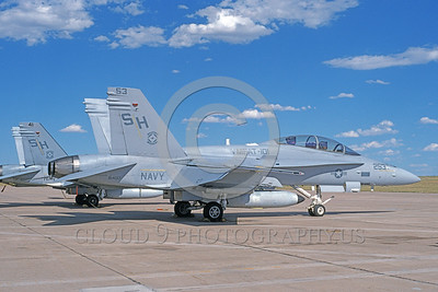 F-18USMC-VMFAT-101 0013 A static McDonnell Douglas F-18D Hornet USMC 164017 VMFAT-101 SHARPSHOOTERS 6-1994 military airplane picture by Michael Grove, Sr