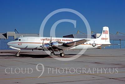 C-118USMC 00001 Douglas C-118 Skymaster USMC 128427 January 1979 by Peter J Mancus