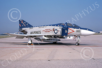 F-4USMC 00113 A static McDonnell Douglas F-4S Phantom II USMC 153904 MAG-41 NAF Washington 7-1991 military airplane picture by Barry Newton