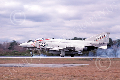 F-4USMC 00111 McDonnell Douglas F-4 Phantom II USMC 155731 VMFA-115 SILVER EAGLES USS Forrestal AA Jan 1981 military airplane picture by Michael Grove, Sr