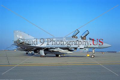 F-4II-USMC-VMFA-451 003 A static McDonnell Douglas F-4 Phantom II USMC 157268 VMFA-451 WARLORDS VM tail code 10-1983 military airplane picture by Michael Grove, Sr      Dt tif