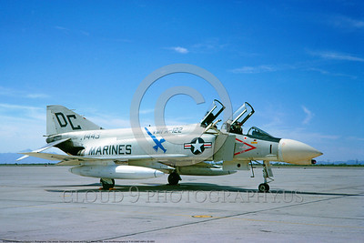 F-4II-USMC-VMFA-122 0003 A static McDonnell Douglas F-4B Phantom II USMC jet fighter 151443 VMFA-122 CRUSADERS DC code 4-1966 military airplane picture by Clay Janson     DONEwt