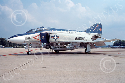 F-4USMC 00099 A static McDonnell Douglas F-4S Phantom II USMC 153904 MAG-41 NAF Washington 5-1991 military airplane picture by Clark Hansen