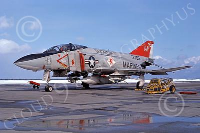 F-4USMC 00129 McDonnell Douglas F-4 Phantom II USMC 3785 VMFA-232 RED DEVILS WT 8 Feb 1977 military airplane picture by Hideki Nakagubo