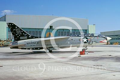 F-8USMC 00001 Vought F-8K Crusader USMC VMF-321 27 April 1972 by David Ostrowski