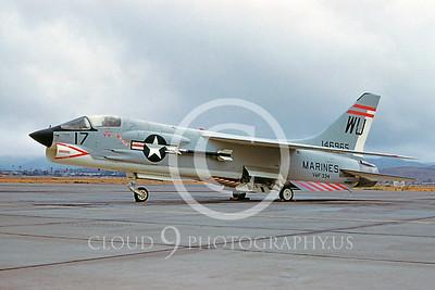 F-8USMC 00005 Vought F-8 Crusader VMF-334 Et Toro Sept 1961 by D W Carter