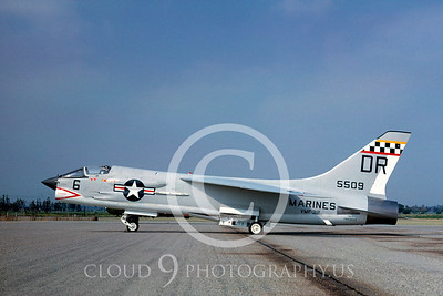 F-8USMC 00003 Vought F-8U-1E Crusader VMF-312 July 1962 by Clay Jansson