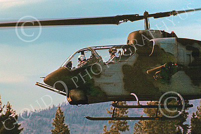 AH-1USMC 00002 A flying Bell AH-1 Cobra USMC Truckee 6-1990 helicopter picture by Peter J Mancus
