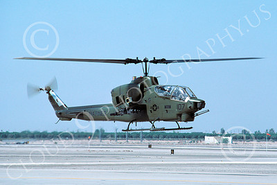 AH-1USMC 00004 A flying Bell AH-1 Cobra USMC MCAS Yuma 10-1983 helicopter picture by Peter J Mancus