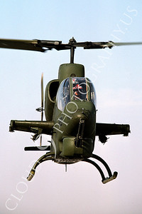 AH-1USMC 00001 A flyig Bell AH-1 Cobra USMC 4-1983 helicopter picture by Peter J Mancus