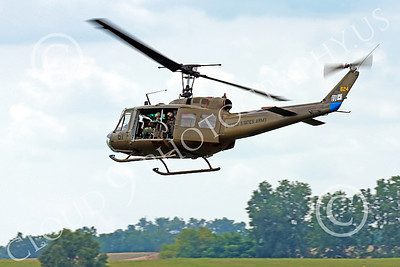H-1USA 00029 A flying Bell H-1 Iroquois Huey US Army military helicopter picture by Peter J Mancus
