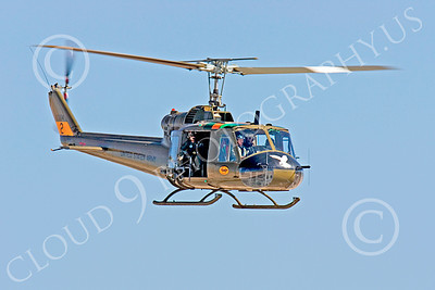 H-1USA 00020 A flying Bell H-1 Iroquois Huey US Army helicopter by Peter J Mancus