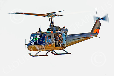 H-1USA 00026 A flying Bell H-1 Iroquois Huey US Army helicopter picture by Peter J Mancus