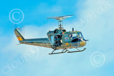 H-1USA 00024 A flying Bell H-1 Iroquois Huey US Army helicopter by Peter J Mancus