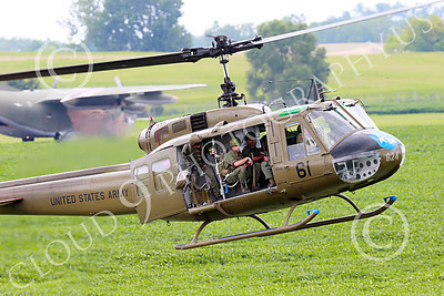 H-1USA 00031 A landing Bell H-1 Iroquois Huey US Army military helicopter picture by Peter J Mancus