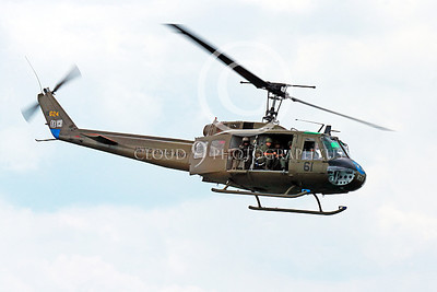 H-1USA 00030 A flying Bell H-1 Iroquois Huey US Army military helicopter picture by Peter J Mancus