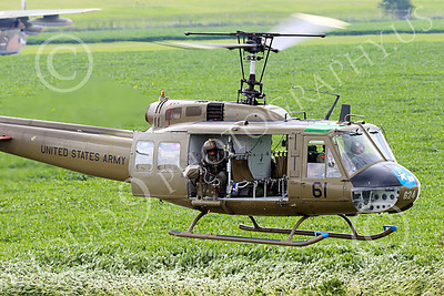 H-1USA 00027 A flying Bell H-1 Iroquois Huey US Army military helicopter picture by Peter J Mancus