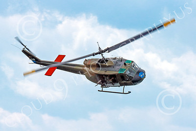 H-1USA 00001 A flying banking Bell H-1 Iroquois Huey US Army military helicopter picture by Peter J Mancus